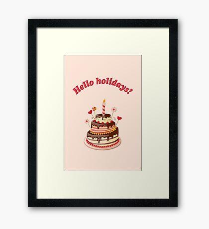 hello holidays! Framed Print