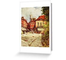 Church of St. Lawrence in Winchester by Wilfred Ball Greeting Card