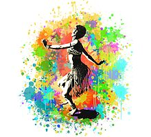 African Rain Dancer (Edited!)  Photographic Print