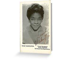 Dinah Washington Greeting Card