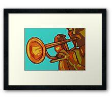 Trumpet Player Framed Print