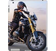 Riding the roadster in the wild desert iPad Case/Skin