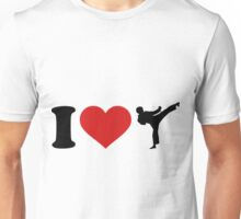 I Love Karate Funny Taekwondo Shirts Unisex T-Shirt