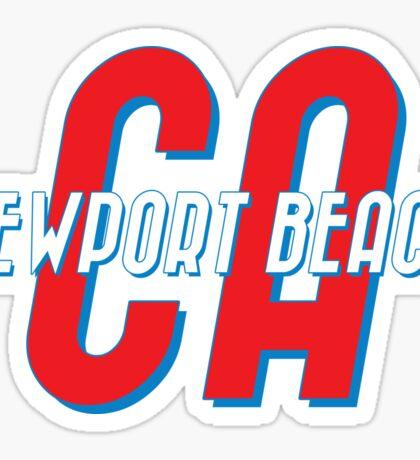 Newport Beach California Vintage Sticker