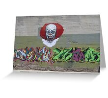 NOT clowning around-wall art Greeting Card