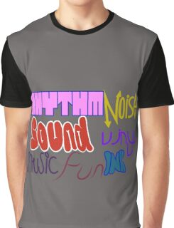 Music Vinyl Rhythm Sound Noise Ink Fun- Kate Moross inspired Graphic T-Shirt