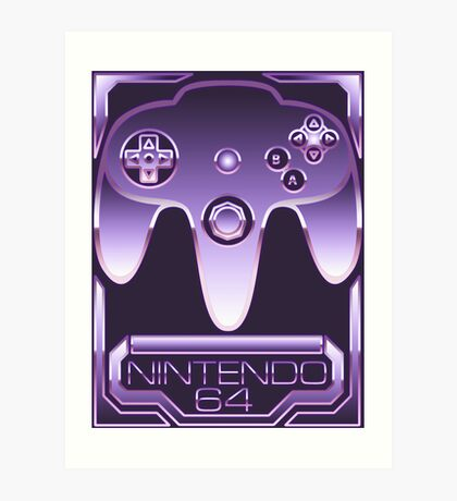 Chrome Nintendo 64 Art Print