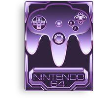 Chrome Nintendo 64 Canvas Print