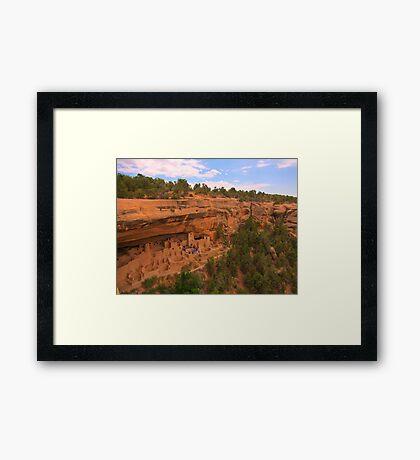 Famous Mesa Verde Cliff Dwellings Framed Print
