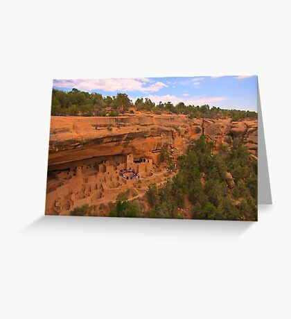 Famous Mesa Verde Cliff Dwellings Greeting Card