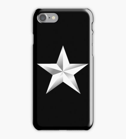 ARMY, SILVER, STAR, USA, rank, insignia, United States Army, Air Force, and Marine Corps. iPhone Case/Skin