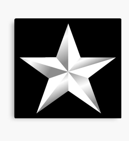ARMY, SILVER, STAR, USA, rank, insignia, United States Army, Air Force, and Marine Corps. Canvas Print