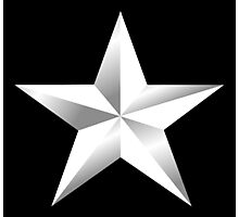 ARMY, SILVER, STAR, USA, rank, insignia, United States Army, Air Force, and Marine Corps. Photographic Print