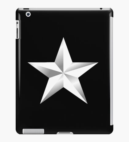 ARMY, SILVER, STAR, USA, rank, insignia, United States Army, Air Force, and Marine Corps. iPad Case/Skin