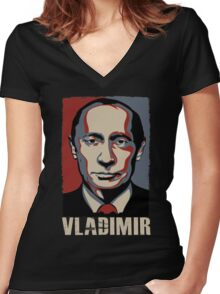 Vladimir Women's Fitted V-Neck T-Shirt