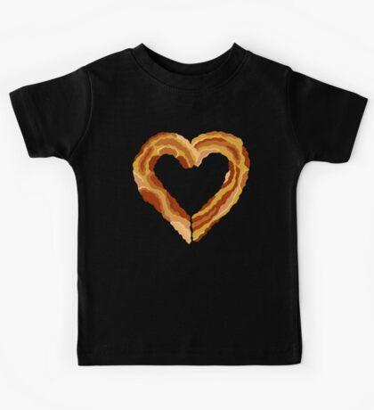 Bacon Heart I Love You Like Bacon Kids Tee