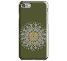 Flame Flower Mandala in Silver iPhone Case/Skin