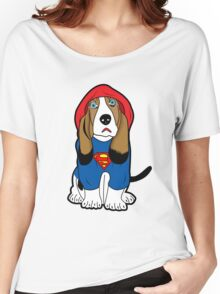 SUPERMAN DOG  Women's Relaxed Fit T-Shirt