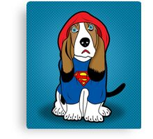 SUPERMAN DOG  Canvas Print