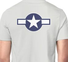 Air Force, USAAF,  insignia, WWII, July 1943, January 1947 Unisex T-Shirt