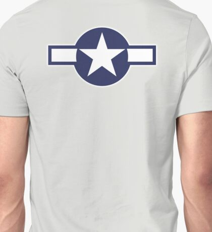 United States, Air Force, USAAF,  insignia, WWII, July 1943, January 1947 Unisex T-Shirt