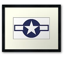 Air Force, USAAF,  insignia, WWII, July 1943, January 1947 Framed Print