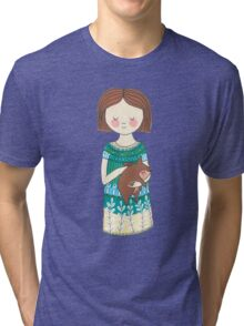 Girl with a wombat Tri-blend T-Shirt