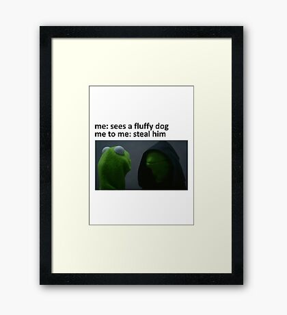 Evil Kermit Meme Framed Print
