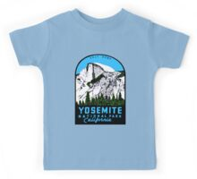 Half Dome Yosemite National Park California Vintage Travel Decal Kids Tee