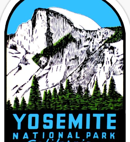 Half Dome Yosemite National Park California Vintage Travel Decal Sticker