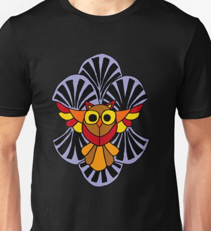 Fun Artistic Owl In Flight Pattern Art Unisex T-Shirt