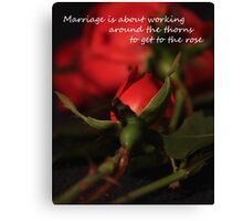 Marriage Rose Canvas Print