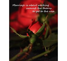 Marriage Rose Photographic Print