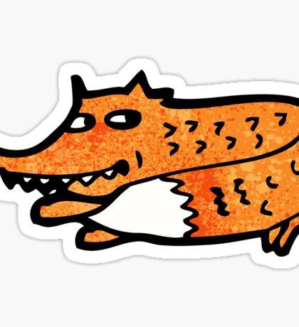 cartoon fox Sticker