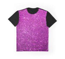 Purple Glitter Shiny Sparkley Graphic T-Shirt