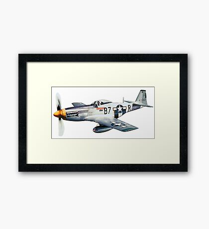 MUSTANG, Fighter Aircraft, WWII, Combat Aircraft, USAAF, P-51 Mustang of 361st Fighter Group, 1944 Framed Print