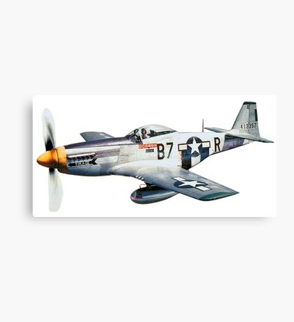 MUSTANG, Fighter Aircraft, WWII, Combat Aircraft, USAAF, P-51 Mustang of 361st Fighter Group, 1944 Canvas Print