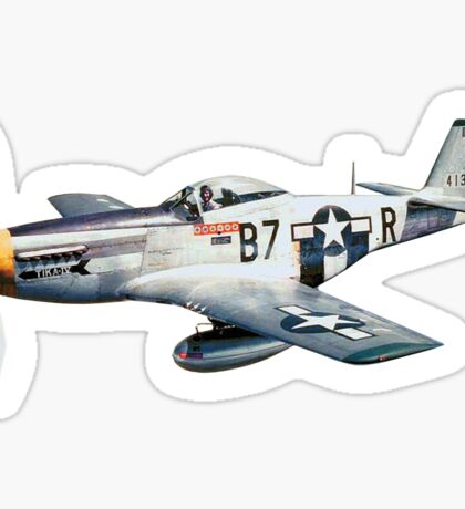 MUSTANG, Fighter Aircraft, WWII, Combat Aircraft, USAAF, P-51 Mustang of 361st Fighter Group, 1944 Sticker