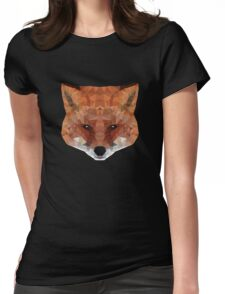 fox. polygonal graphics Womens Fitted T-Shirt