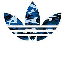 Adidas Trefoil Original Blue Camo by PommyKaine