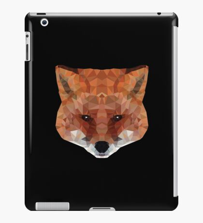 fox. polygonal graphics iPad Case/Skin