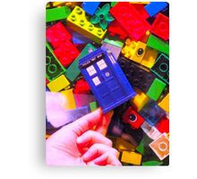 Lego My TARDIS Canvas Print