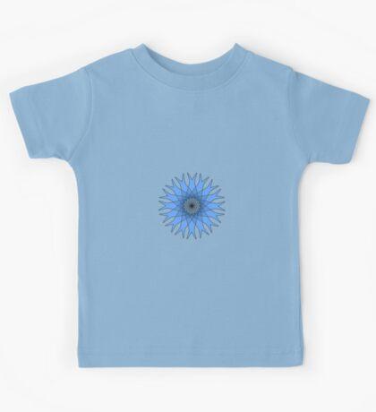 Bachelor Buttons Blue Flowers Kids Tee