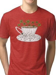 Lucky Cup of Clovers T-shirt Chiné