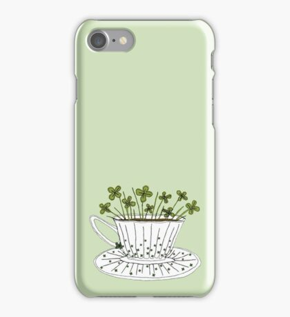 Lucky Cup of Clovers iPhone Case/Skin