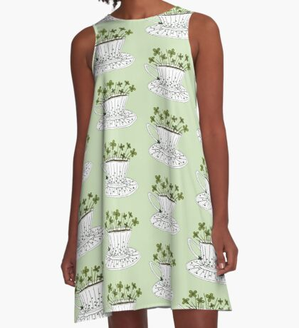 Lucky Cup of Clovers A-Line Dress