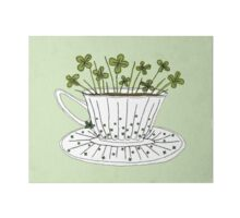 Lucky Cup of Clovers Art Board