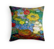 Sunflowers Whimsical Gifts Throw Pillow