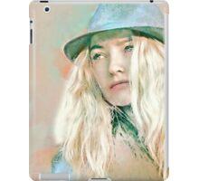 Blonde Girl in Hat iPad Case/Skin