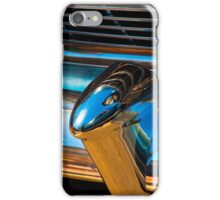 A section from a rear 1954 Chevrolet chrome bumper iPhone Case/Skin